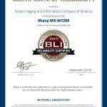 2019-BLI-MX-M1205-RELIABILITY-CERTIFIED-CERTIFICATE