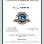2020-BLI-MX-M3071-HIGHLY-RECOMMENDED-CERTIFICATE