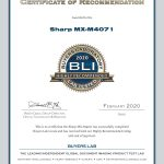 2020-BLI-MX-M4071-HIGHLY-RECOMMENDED-CERTIFICATE