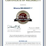2020-BLI-MX-M4071-RELIABILITY-CERTIFIED-CERTIFICATE
