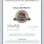 2020-BLI-MX-M5071-RELIABILITY-CERTIFIED-CERTIFICATE